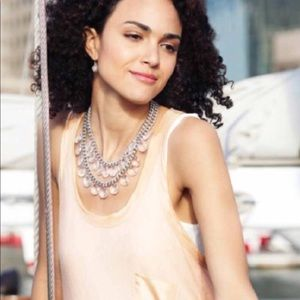 Stella and Dot Byblos Crystal Chandelier Necklace